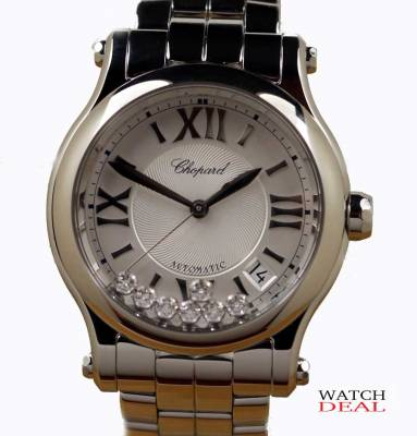 Chopard Happy Sport Automatic Steel Diamonds 36mm 278559-3002 ✓ Luxury watches from Chopard at fair prices ✓ Telephone advice ✓ Watchdeal has luxury watches at low prices for over 30 years ✓
