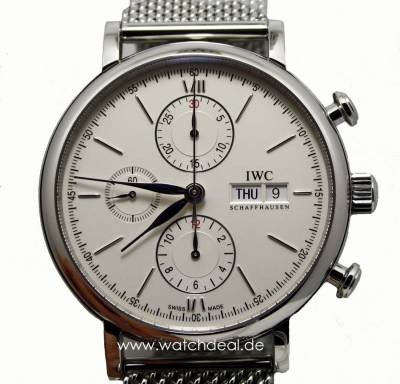 IWC Por­to­fi­no Chro­no­graph Stahl 42mm IW391009
