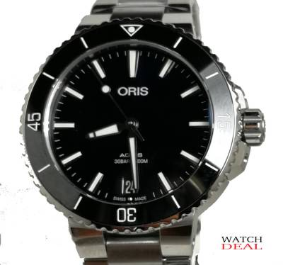 01 733 7731 4135-07 8 18 05P - Oris Aquis Date Stahl 36,5mm  ladies' watch