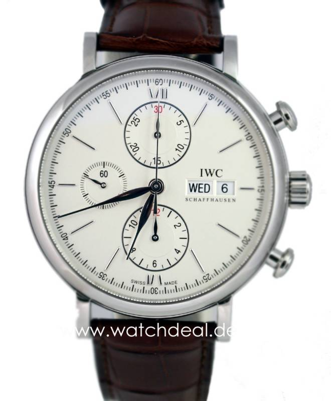 IWC Por­to­fi­no Chro­no­graph Stahl 42mm IW391007