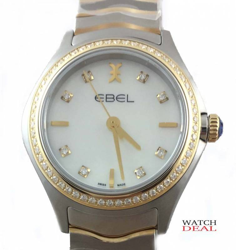 Ebel Wave Lady Quarz Steel/Yellow gold Diamonds 30mm 1216351