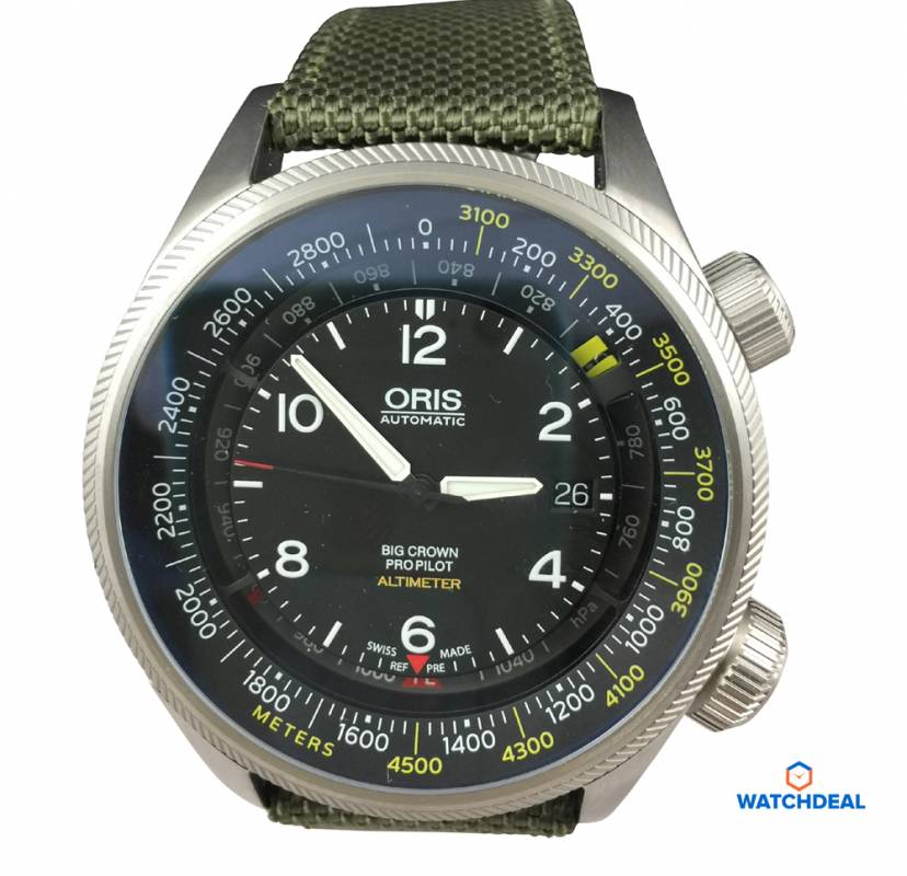 Oris Big Crown ProPilot Altimeter mit Meter-Skala 01 733 7705 4164-Set 5 23 14FC